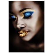 PopArt - Golden Lips 120x180cm