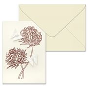 Short Story - Butterflies & Chrysanthemums Greeting Card