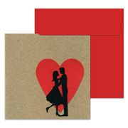 Lissie Lou - Couple On Red Heart Greeting Card