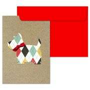 Lissie Lou -  Scottie Dog Greeting Card