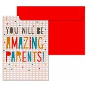 Little Red Owl - Amazing Parents Greeting Card