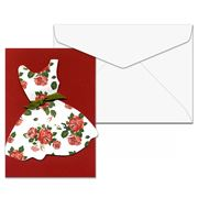 LittleBits - Red Floral Dress Greeting Card