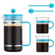 Bodum - 70 Years Light Blue Bistro French Coffee Press Set
