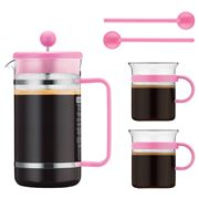 Bodum - 70 Years Pink Bistro French Coffee Press Set