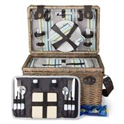 Satara - Amalfi Willow Picnic Basket Set for Four