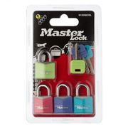 Master Lock - Colour Padlock Multicolour Set 4pce