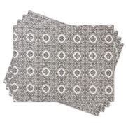 Madras - Marais Grey Placemat Set 4pce