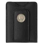 Tokens & Icons - Mercury Dime Leather Wallet Black