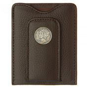 Tokens & Icons - Mercury Dime Leather Wallet Brown