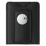 Tokens & Icons - Sawgrass Golf Ball Leather Wallet Black