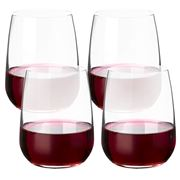 Bormioli Rocco - Premium Stemless Wine Glass Set 4pce