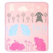 Weegoamigo - Flannel Cot Blanket Blooming Bunny