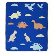 Weegoamigo - Flannel Cot Blanket Baby Dino