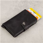 Secrid - Vintage Leather Black Mini Wallet
