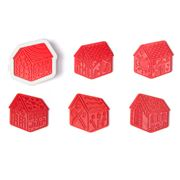 Tovolo - Christmas Gingerbread House Cookie Cutter Set 3pce