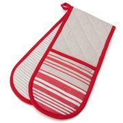 Davis & Waddell - Red San Diego Stripe Double Oven Glove