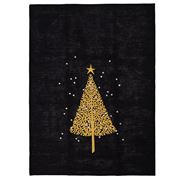 ART - Gold & Silver Decorated Tree Tea Towel