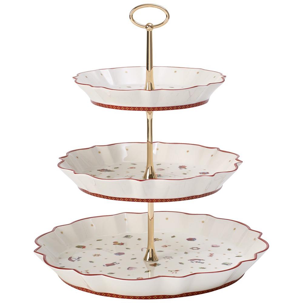 Rectangular Cake Plate Or Stand Christmas