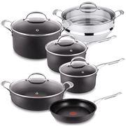 Tefal - Jamie Oliver Hard Anodised Cookware Set + Steamer