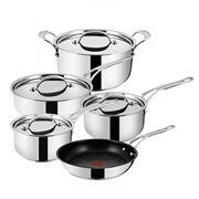 Tefal - Jamie Oliver New Wave Steel/Copper Cookware Set 5pc