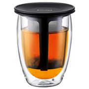 Bodum - Tea For One Glass with Black Strainer