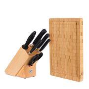 Henckels - Pure Knife Block Set 7pce w/Bonus Chopping Board