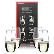 Riedel - O Series Champagne Tumbler Pay for 3 Get 4 Pack