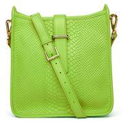 GiGi New York - Elle Lime Leather Cross-Body Bag