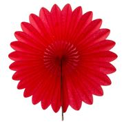 Contents Giftware - Red Honeycomb Paperfold Fan 45cm