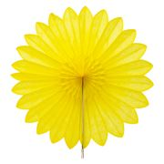Contents Giftware - Yellow Honeycomb Paperfold Fan 45cm