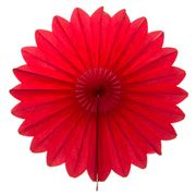 Contents Giftware - Red Honeycomb Paperfold Fan 68cm