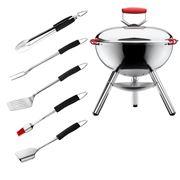 Bodum - Fyrkat Chrome Grill & Black Grill Tool Set