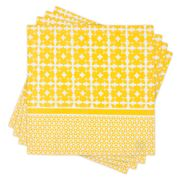 Madras - Atelier Yellow Napkin Set 4pce