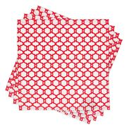 Madras - Medallion Napkin Set Red 4pce