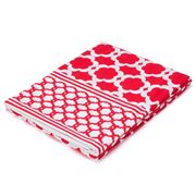 Madras - Medallion Red Tablecloth 150x230cm