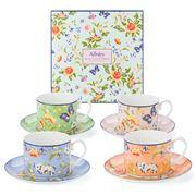 Aynsley - Regal Cottage Garden Teacup & Saucer Set 4pce
