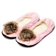 AT - Pompom Pink Kids Ballet Slippers Medium