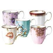 Royal Albert - 100 Years 1950-1990 Mug Set 5pce