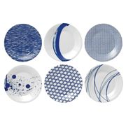 Royal Doulton - Pacific Cocktail Plate Set 6pce