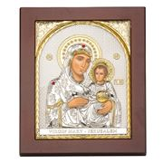 Axion - Holy Virgin Mary of Jerusalem Jewelled 15x19cm