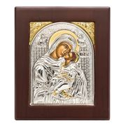 Axion - Holy Virgin Mary Kissing Lovingly 8x9.5cm