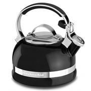 KitchenAid - Porcelain Enamel Stovetop Kettle Black