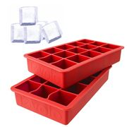 Tovolo - Perfect Cube Ice Tray Set Red 2pce