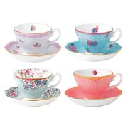 Royal Albert - Candy Collection Teacup & Saucer Set 8pce