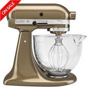 KitchenAid - Platinum KSM156 Toffee Stand Mixer