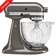 KitchenAid - Platinum KSM156 Liquid Graphite Stand Mixer