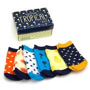 Tippy Toes - Tropical Boys Baby Sock Set 6pce