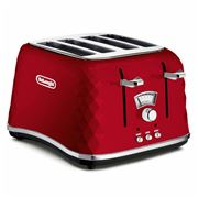 DeLonghi - Brillante Red 4 Slice Toaster