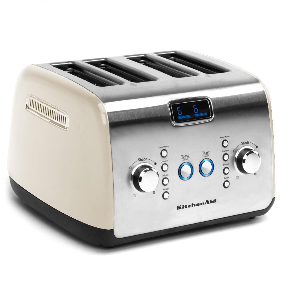 kitchenaid kmt423 4 slice almond cream toaster peter 39 s. Black Bedroom Furniture Sets. Home Design Ideas