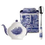 Pimpernel - Blue Italian Tea Caddy Set 3pce